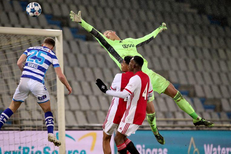 Kjell Scherpen: 'Het is harder bij Ajax. Je moet elke dag presteren, kunt niet verslappen of verzaken.'  Beeld Orange Pictures