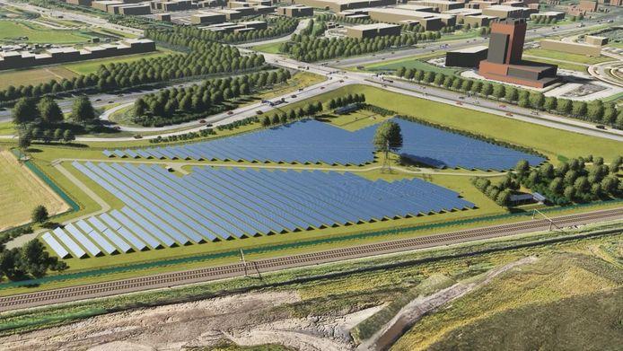 Een impressie van zonnepark Amstelwijck.