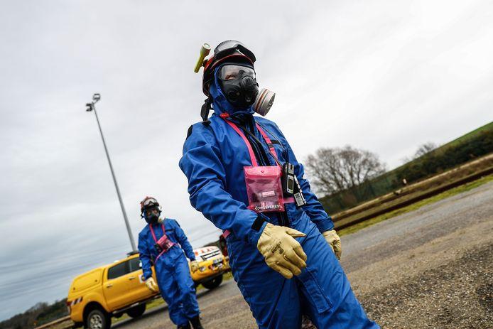 Eind januari hielden medewerkers van de bewuste kerncentrale nog een grootschalige veiligheidsoefening.  Volgens het scenario moesten  medewerkers nagaan of er radioactiviteit was vrijgekomen. (archieffoto)