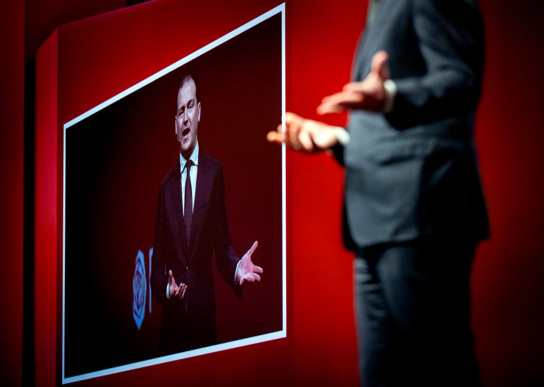 Politiek leider Lodewijk Asscher houdt een toespraak tijdens het jaarlijkse partijcongres van de PvdA.