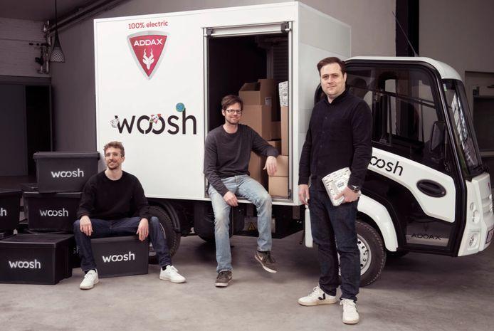 Alby Roseveare, Wouter Vandamme en Jeff Stubbe, het operationeel team van Woosh