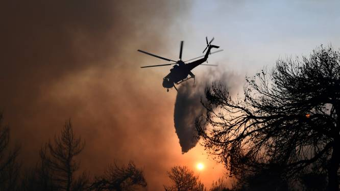 """Grieken moeten over zee voor bosbranden vluchten: """"Dit is een apocalyps"""""""