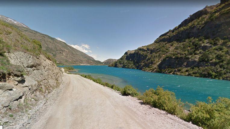 De Carretera Austral in Chili, de 1.250 kilometer lange gravelweg die noord en zuid verbindt. Beeld google maps