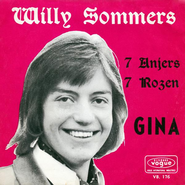 Willy's album 'Zeven Anjers, Zeven Rozen' toen het vijftig jaar geleden uitkwam.