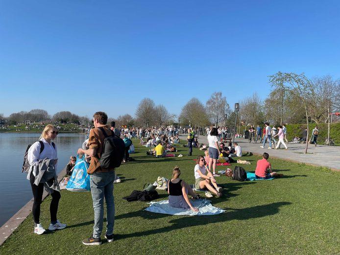 Maart dit jaar was het druk in het Griftpark.