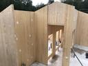 De bouw van het houten huis in Dalfsen