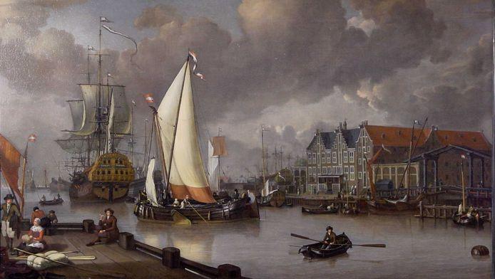Een gestolen schilderij van Jan Claesz: Rietschoof, Gezicht op het Oostereiland, 1652-1719.