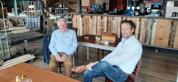 Bestuursvoorzitter Aad van Lopik (links) en directeur Kris Roemers van De Nieuwe Instelling.