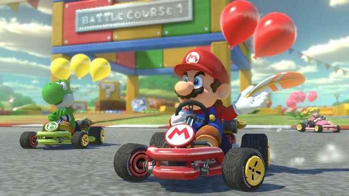 Onder meer Mario Kart kon in toernooivorm gespeeld worden op het evenement.