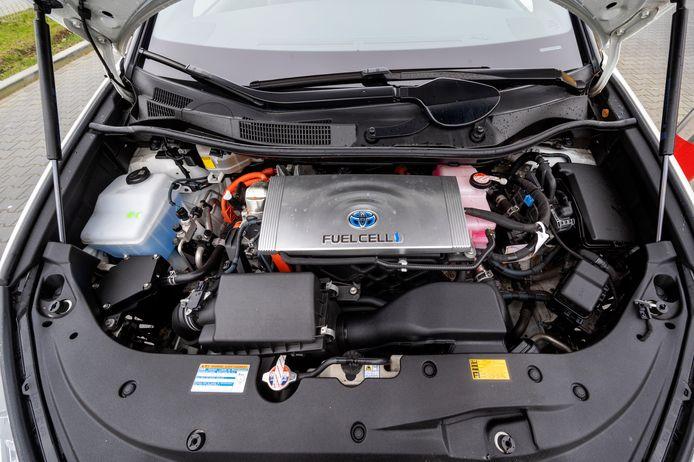 Een auto die op waterstof rijdt.