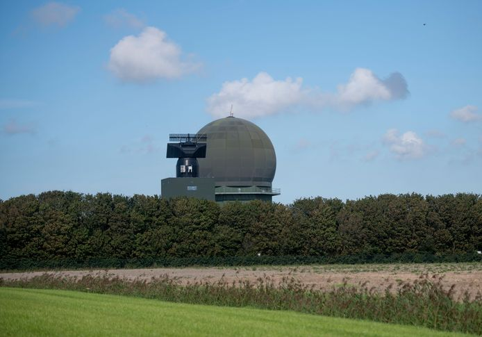 De radar in Wier (Friesland).