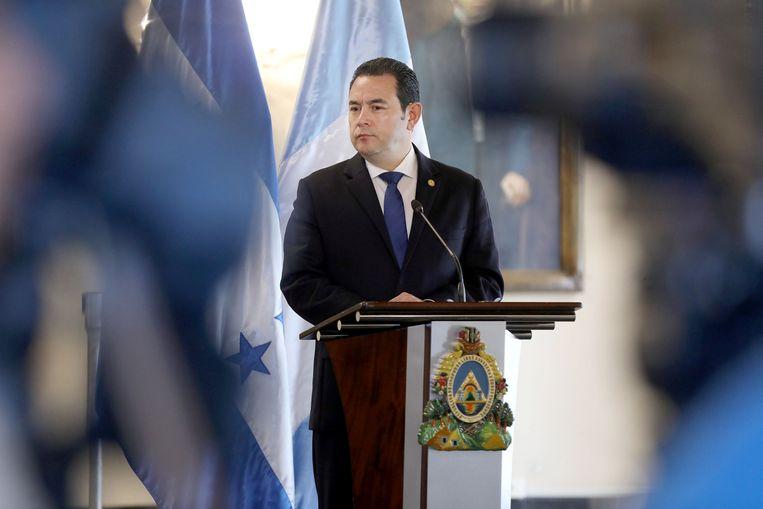 Guatemalteekse president Jimmy Morales. Beeld REUTERS
