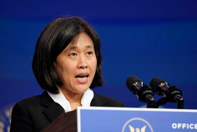 La représentante américaine au Commerce Katherine Tai en janvier 2021.