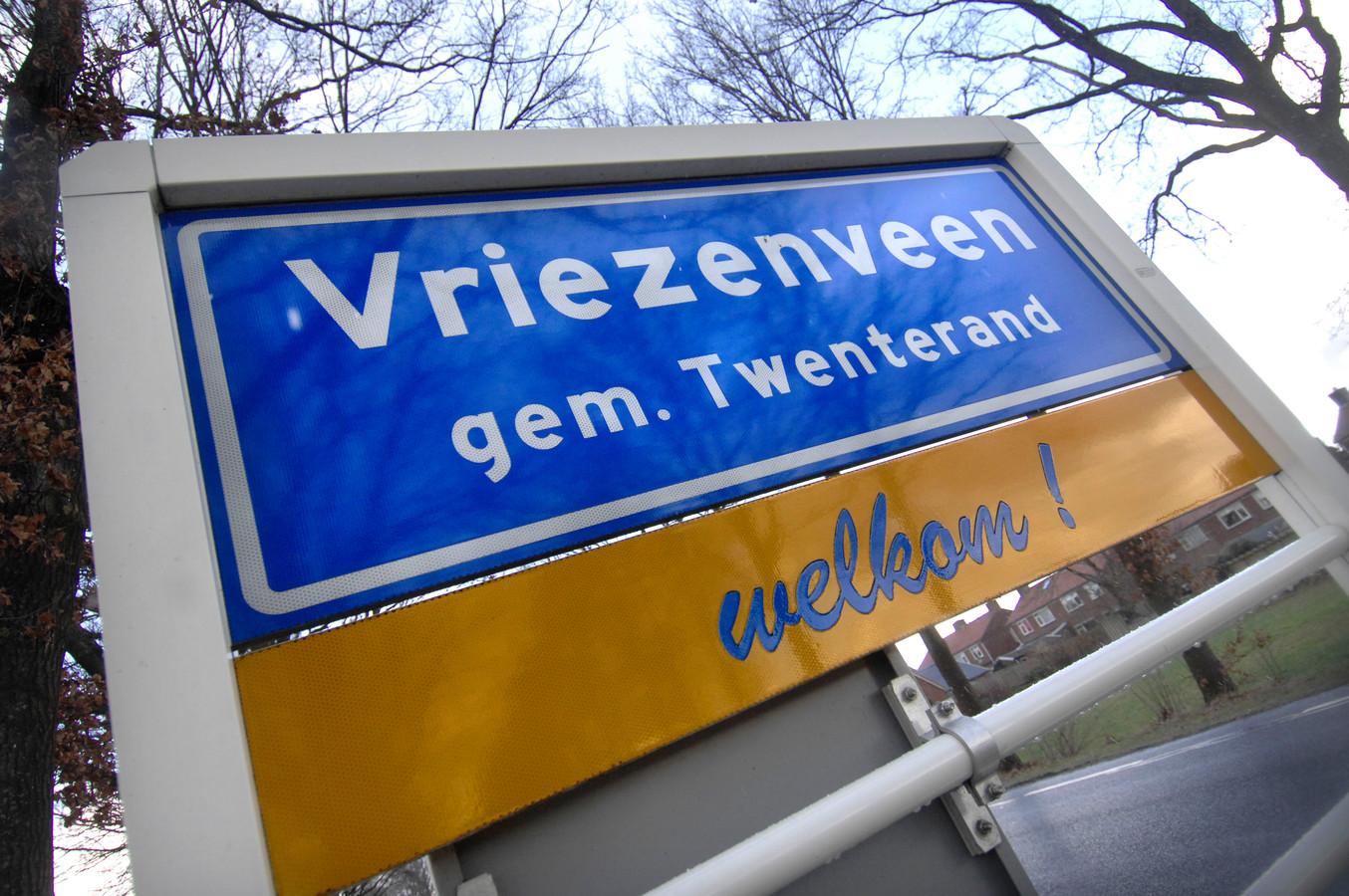 Bord welkom in de gemeente Twenterand.