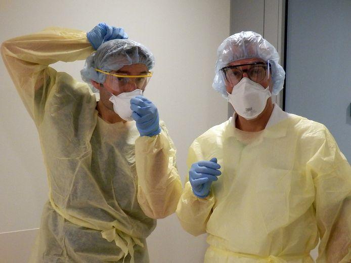 Medewerkers van het Groene Hart Ziekenhuis in Gouda. (foto ter illustratie)