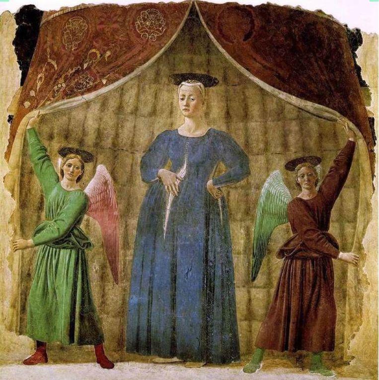 Piero della Francesca - Madonna del Parto. Beeld -