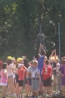 1.500 scholieren sporten op het Rutbeek: 'Het is nog net verantwoord'