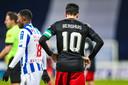 Feyenoord-aanvoerder Steven Berghuis baalt.