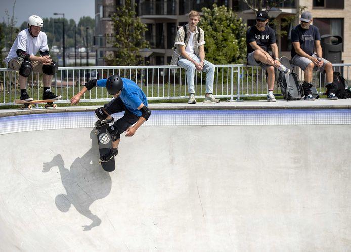 Skateboarders, foto ter illustratie