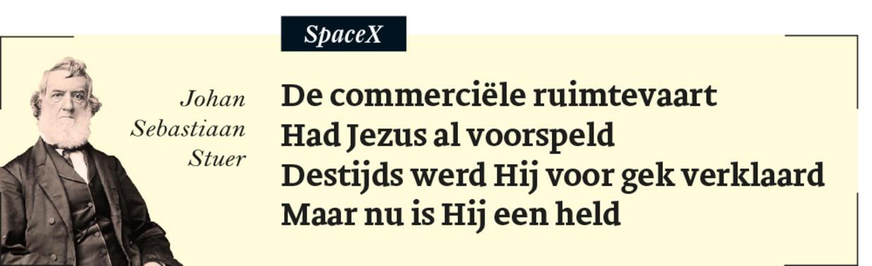 Johan Sebastiaan Stuer 39: SpaceX Beeld Humo