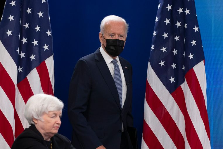 De Amerikaanse president Biden. Beeld EPA