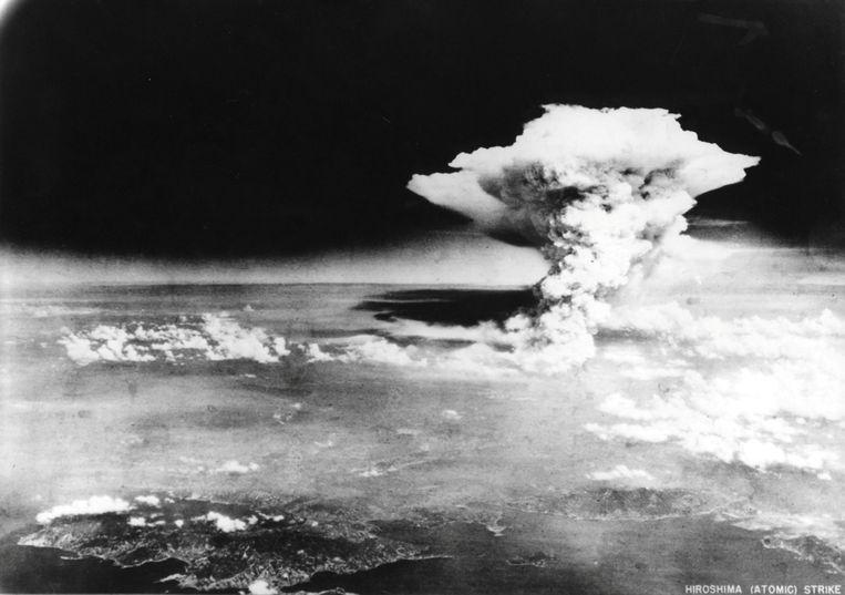 Beeld van explosie atoombom op Hiroshima. Beeld reuters