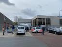 De locatie van ABN Amro in Amsterdam waar vanmorgen een bombrief explodeerde.