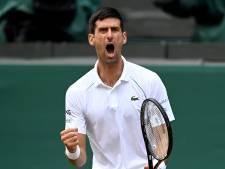 Djokovic bereikt zevende Wimbledonfinale met één verloren set