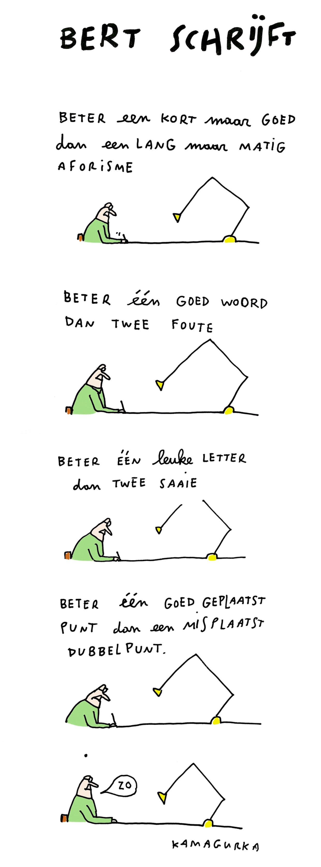 Bert schrijft een boek 24 Beeld Kamagurka
