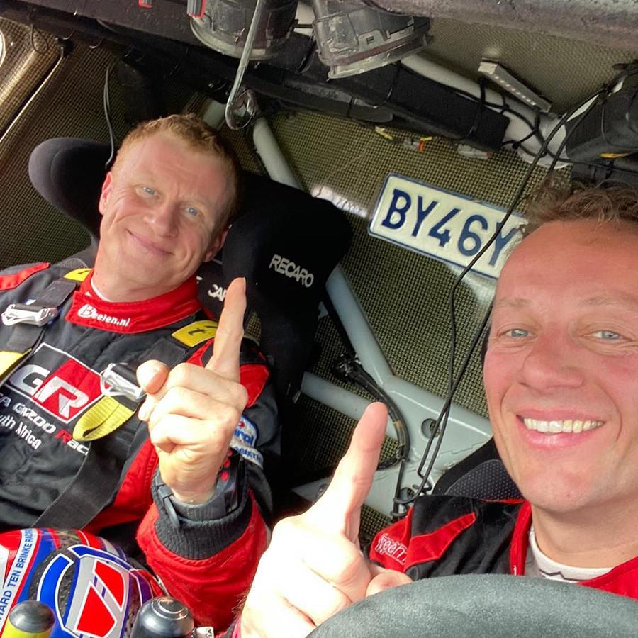 Tom Colsoul (r.) en Bernhard Ten Brinke (l.) na hun zege in Portugal eerder dit jaar.