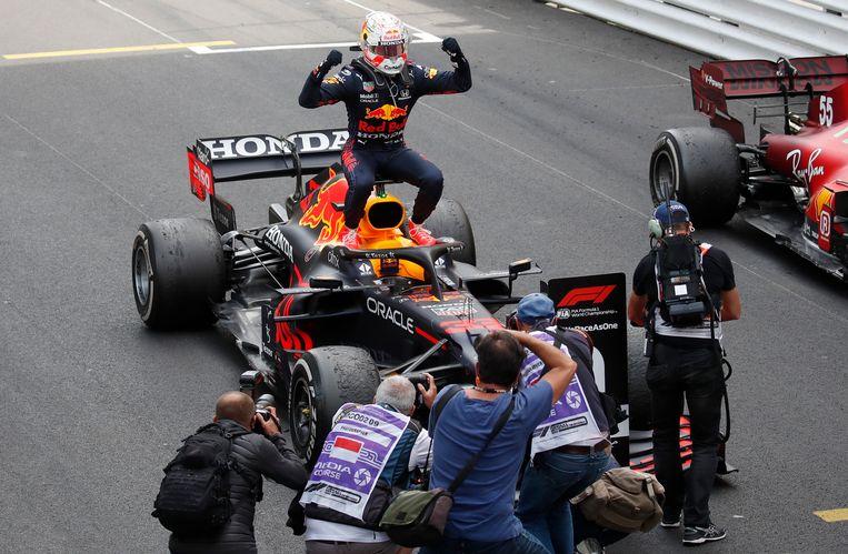 Verstappen won zondag voor het eerst in zijn carrière de grand prix van Monaco. Beeld AP