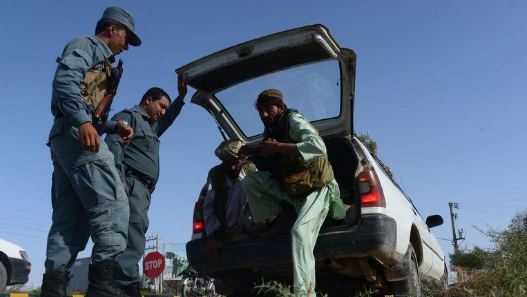 De veiligheidsmaatregelen zijn opgevoerd sinds de Taliban eerder deze week het vuur opende op een groep internationale toeristen. Beeld afp