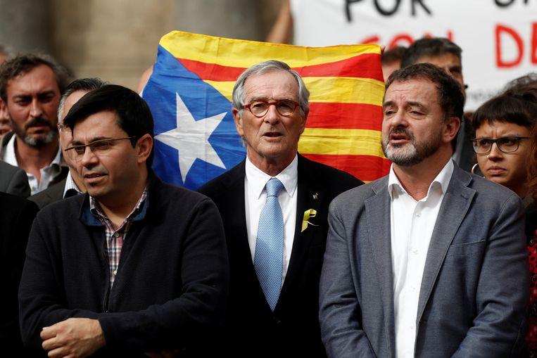 Xavier Trias (midden) Beeld REUTERS