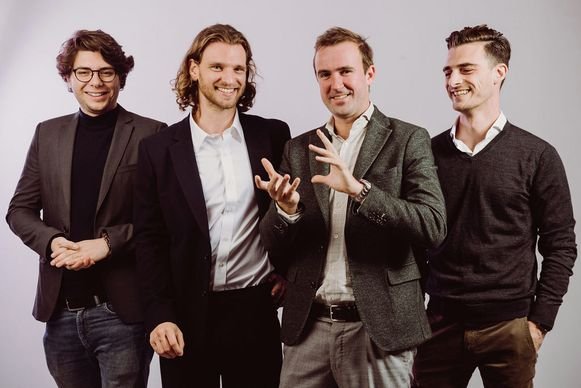 Mattia Greco, Mats Raemen, Kasper De Wulf en Joakim Steyls, de vier oprichters van YOUREKA!