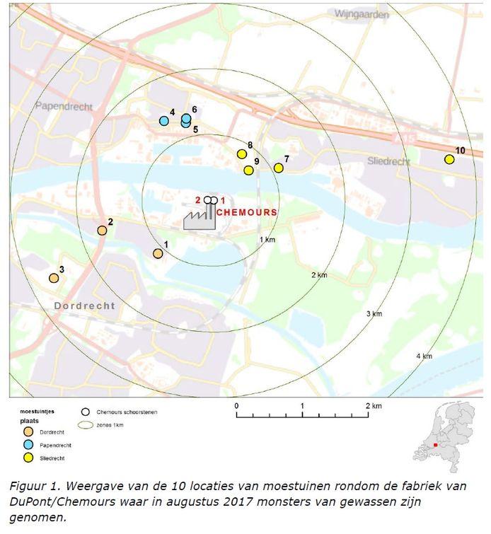 Volkstuincomplexen op korte afstand van Chemours.