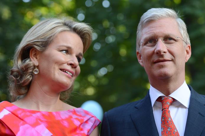 La reine et le roi, durant la fête nationale de 2013.