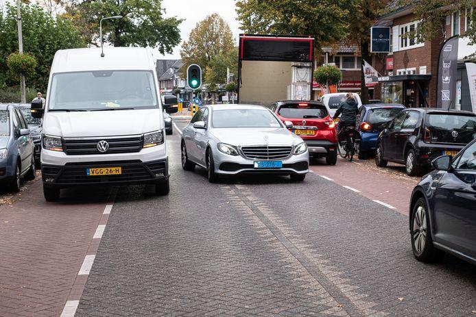 Ook na de herinrichting blijft er op de Leusderweg sprake van gevaarlijke situaties.