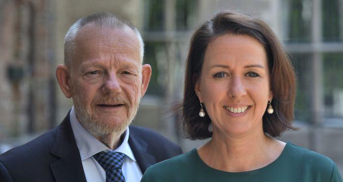 Gedeputeerden Dick van der Velde en Anita Pijpelink.