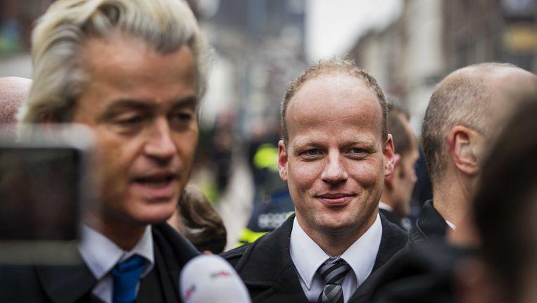 Michael Heemels op campagne met Geert Wilders. Beeld ANP