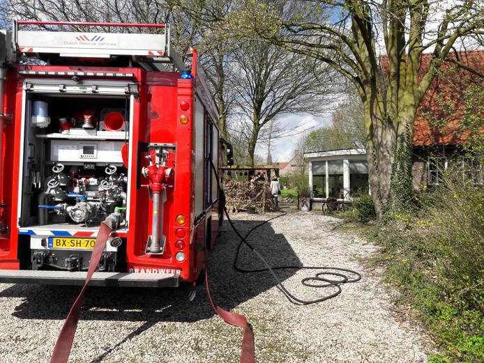 Brandweer ter plaatse in Groesbeek.