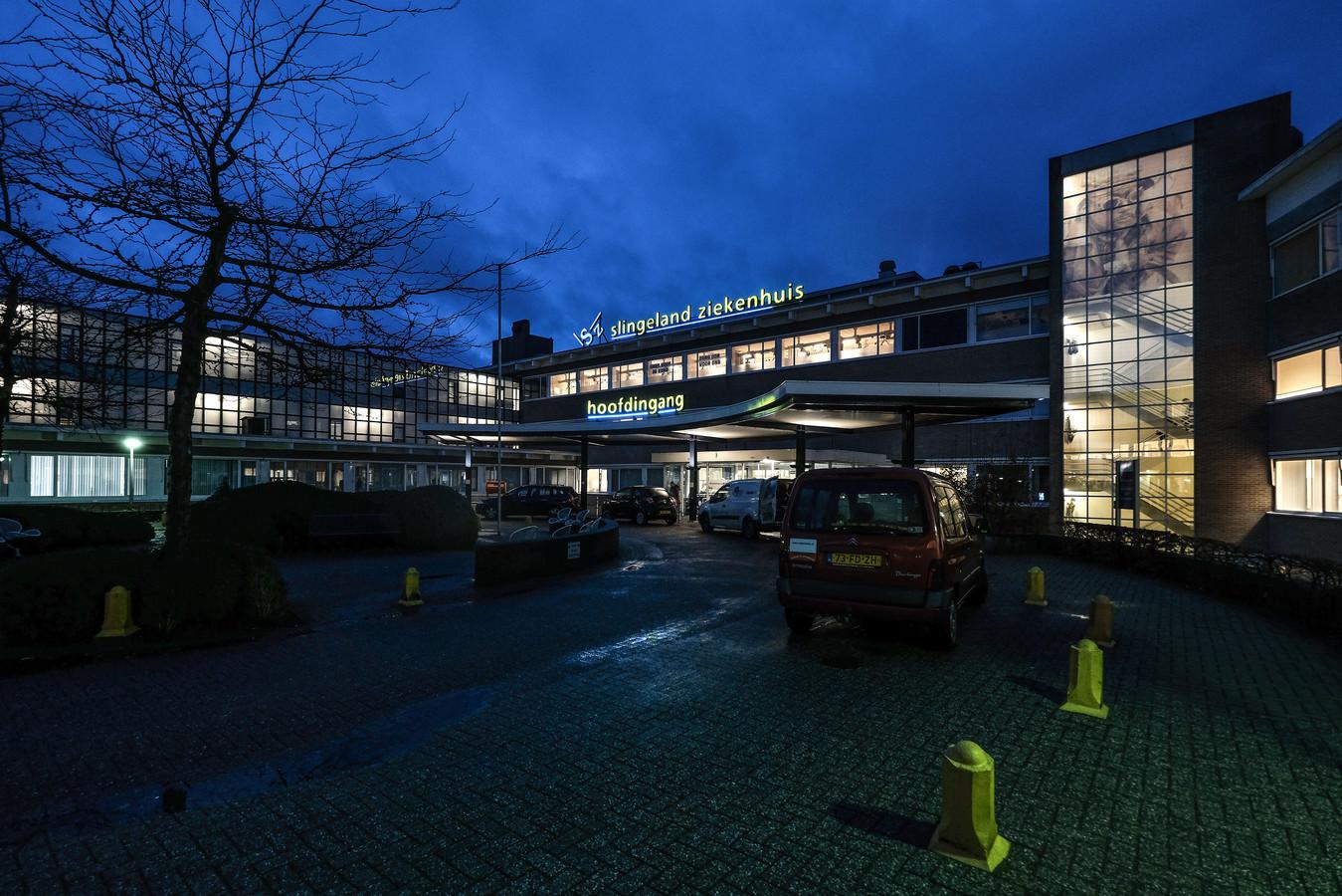 De hoofdingang van het Slingeland Ziekenhuis in Doetinchem.