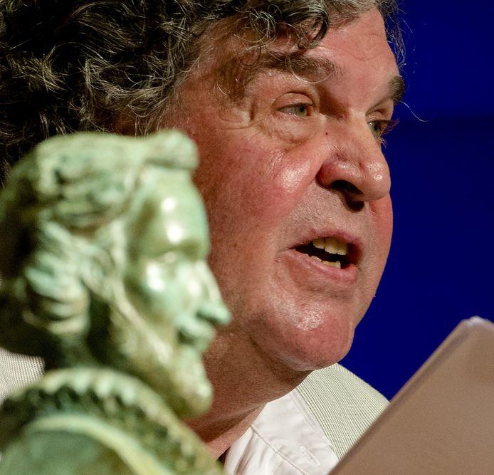 A.F.Th. van der Heijden aan het woord na de uitreiking van de P.C. Hooft-prijs.