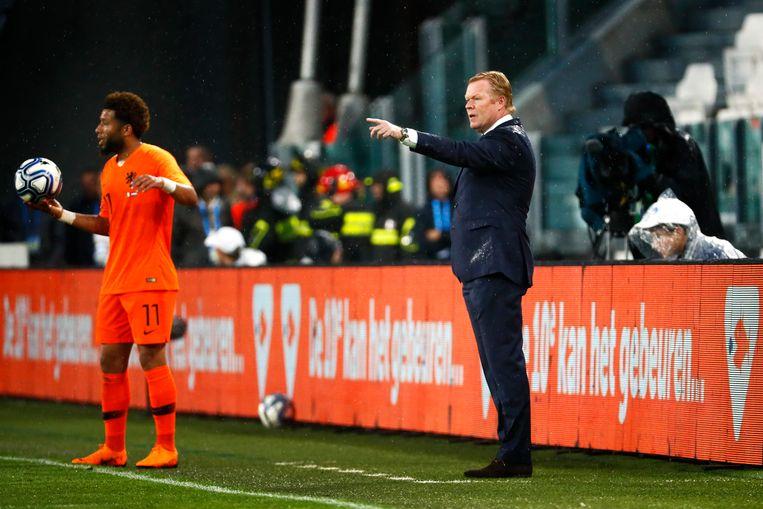 Feyenoord-coach Van Bronckhorst over Vilhena: 'Hij kwam sterk terug na de week met het Nederlands elftal. Tonny kan tegen PSV het verschil maken.' Beeld ANP
