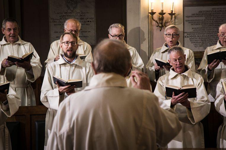 De zondagsmis in de Friezenkerk. Beeld Zolin Nicola