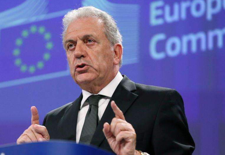 Europees Commissaris voor Migratie Dimitris Avramopoulos. Beeld EPA