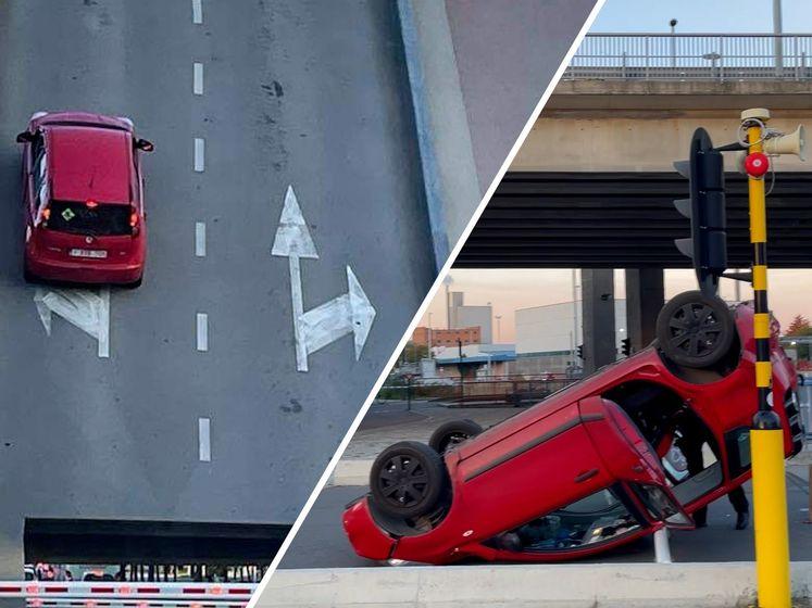 Belgisch gezin komt met schrik vrij na val met auto van openstaande brug