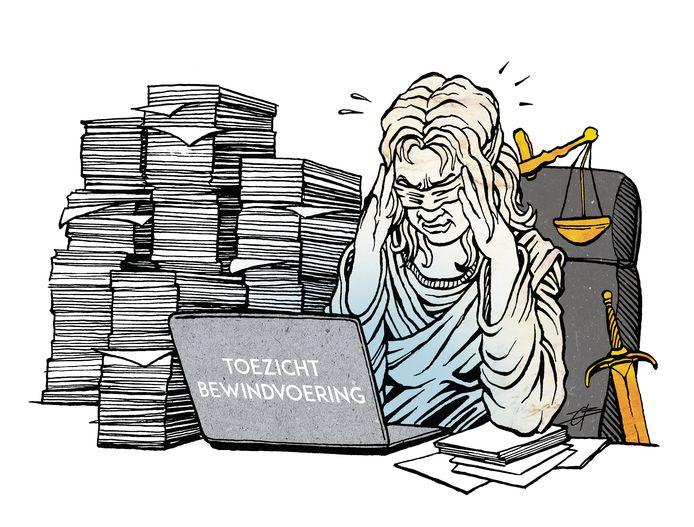 De Almelose rechtbank heeft het te druk om het werk van de 160 bewindvoerders die in Twente actief zijn goed te kunnen controleren.