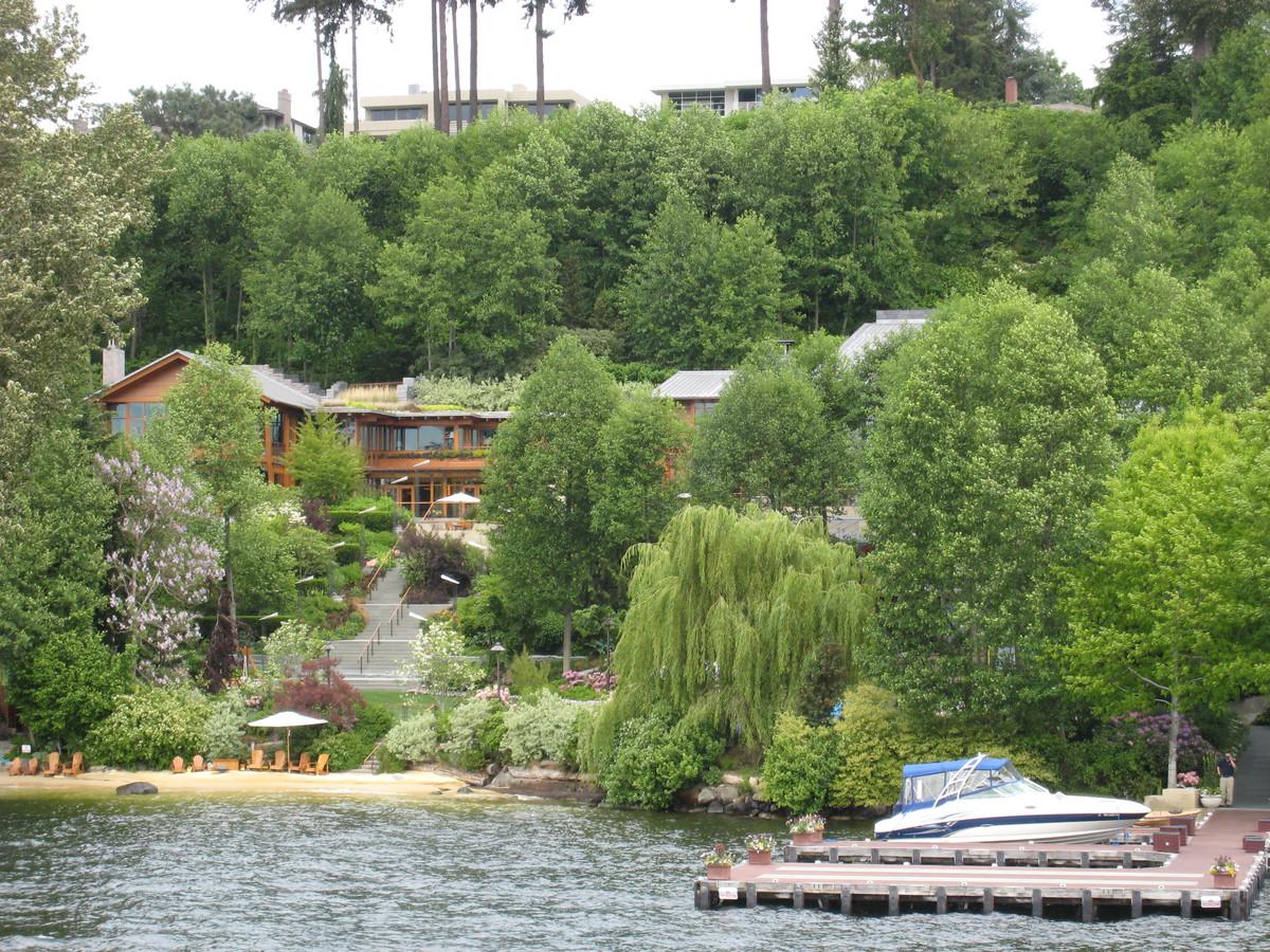 De villa van Bill Gates bij Seattle.