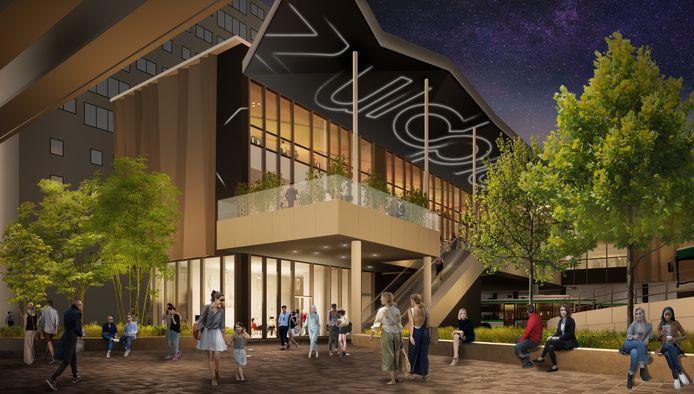Waar ooit Theater Zuidplein stond, verrijst in de toekomst een nagelnieuw, 5000 vierkante meter grote aanbouw van het winkelcentrum Zuidplein.