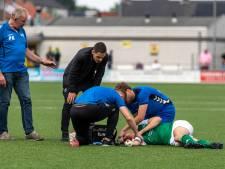 HSC'21-middenvelder Jasper Scholten na keiharde botsing: 'Dit had veel slechter kunnen aflopen'